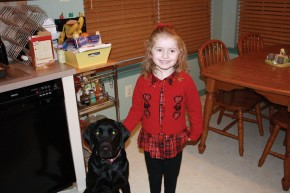 Photo of Camryn and her companion, Violet