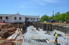 Construction on the new Marian S. Ware Program Services Center