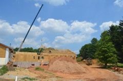 Construction on the new Marian S. Ware Program Services Center - June 2017