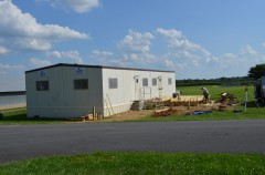 Installation of the first office trailer –  July 2014