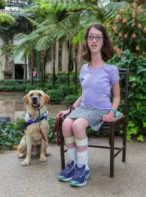 Click here to see the video Naomi created to inform her classmates about how to properly interact with her service dog, Chadds.