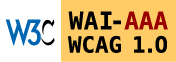 Level Triple-A conformance icon, W3C-WAI Web Content Accessibility Guidelines 1.0