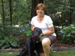 Photo of Marla and her companion, Sadiedog