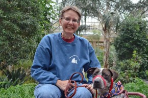 Rebecca and Service Dog Yankee