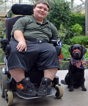 Cody and Service Dog Clare